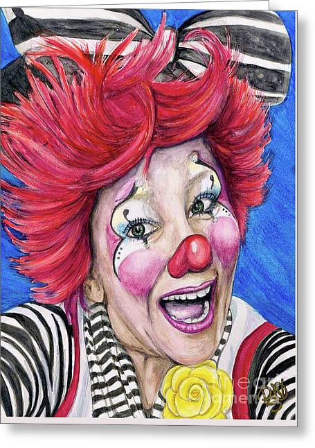 Watercolor Clown #24 Kelly Lynn Diehl Greeting Card