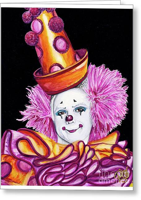 Watercolor Clown #26 Victor Ruiz Greeting Card by Patty Vicknair