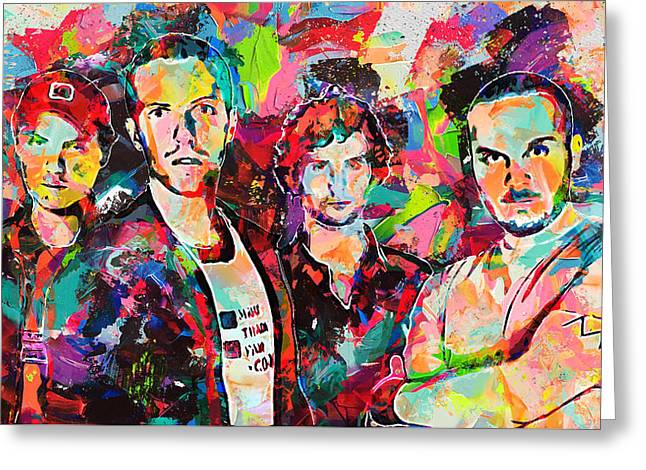 Watercolor Coldplay Greeting Card