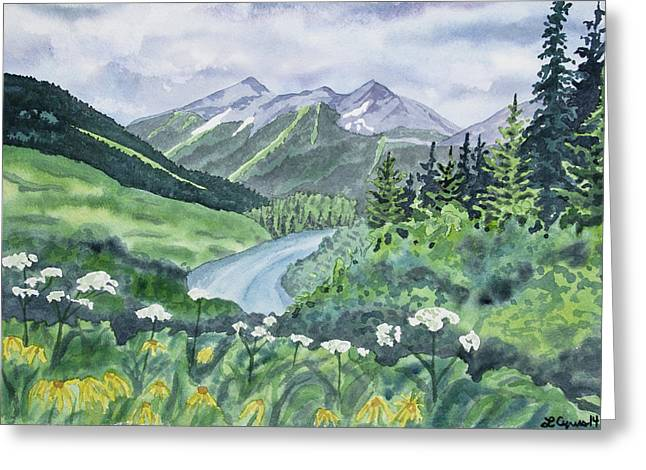 Watercolor - Colorado Summer Landscape Greeting Card