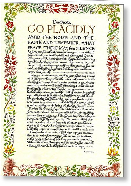 Christmas Greeting Greeting Cards - Watercolor DESIDERATA Wild Flower Design Greeting Card by Desiderata Gallery