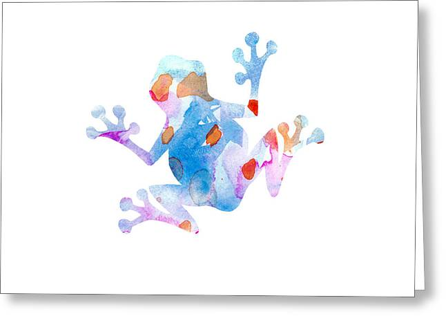 Watercolor Frog Greeting Card by Nursery Art