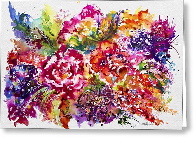 Watercolor Garden IIi Greeting Card by Isabel Salvador
