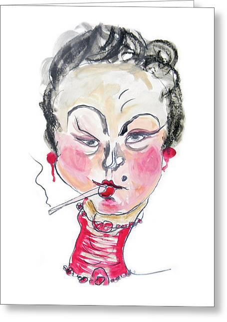 The Smoker Greeting Card