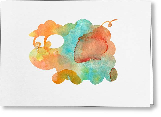 Watercolor Lamb For Nurseries Greeting Card by Nursery Art