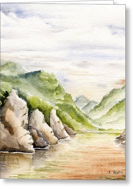 Watercolor Landscape Plein Air Greeting Card