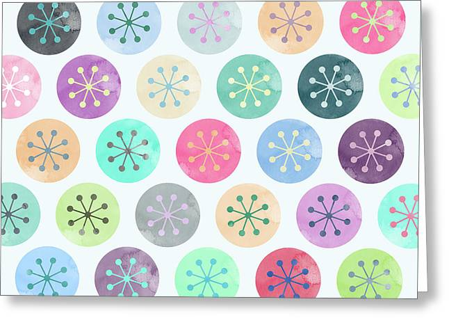 Watercolor Lovely Pattern Greeting Card by Amir Faysal