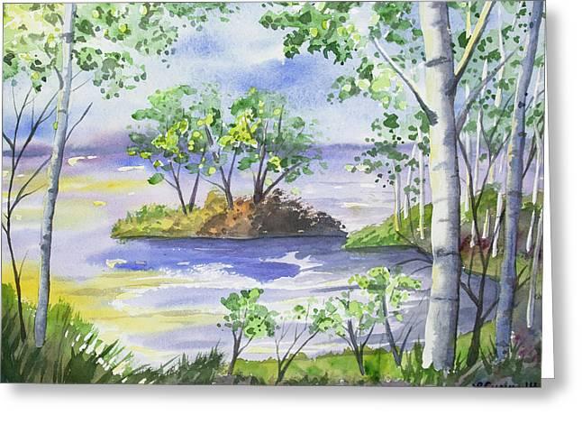Watercolor - Minnesota North Shore Landscape Greeting Card