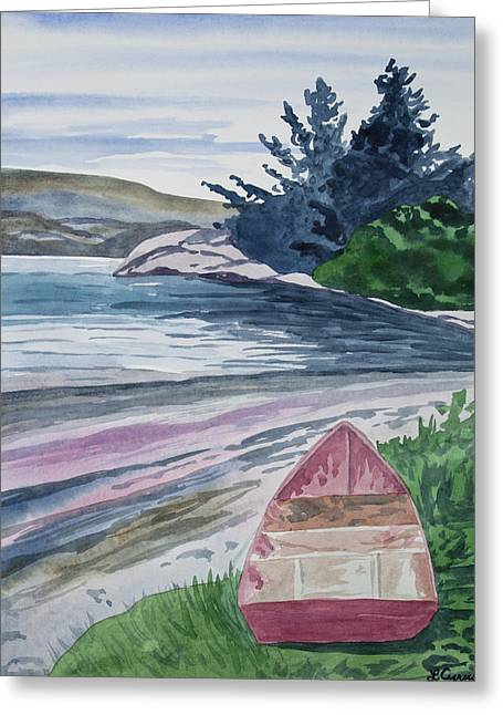 Greeting Card featuring the painting Watercolor - New Zealand Harbor by Cascade Colors