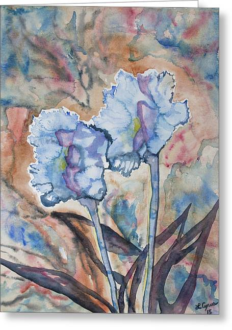 Watercolor - Orchid Impression Greeting Card