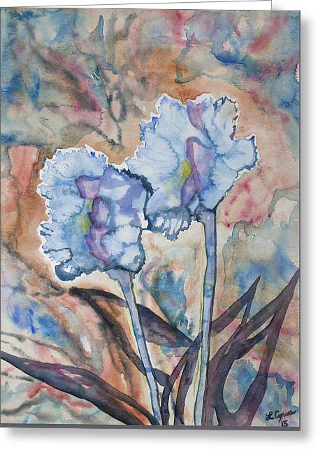 Greeting Card featuring the painting Watercolor - Orchid Impression by Cascade Colors