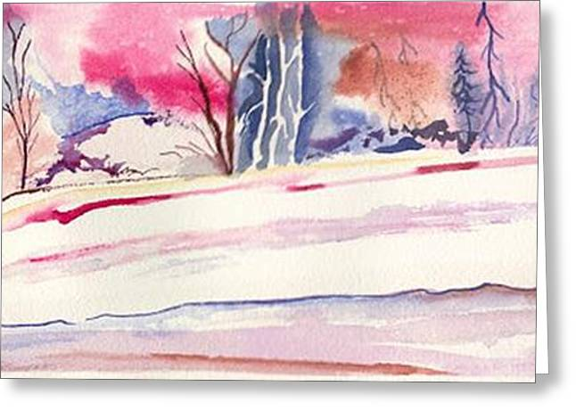 Watercolor River Greeting Card