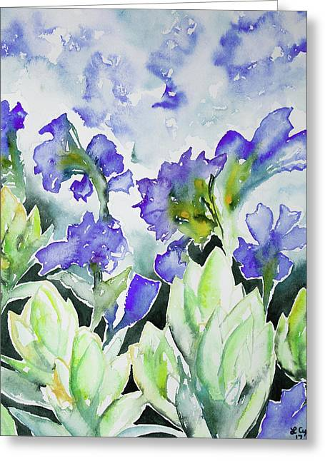 Watercolor - Rocky Mountain Wildflowers Greeting Card