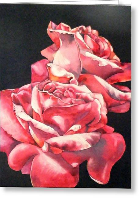 Watercolor Rose 2 Greeting Card
