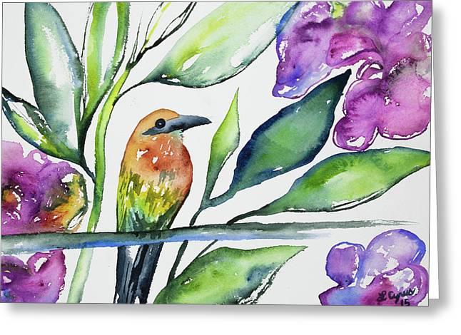 Watercolor - Rufous Motmot Greeting Card