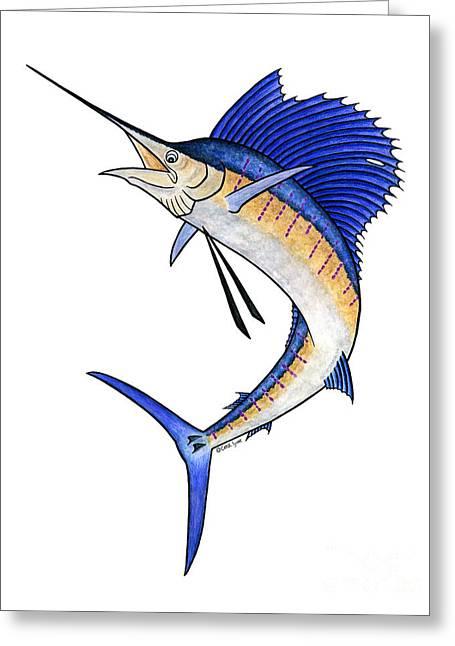 Watercolor Sailfish Greeting Card