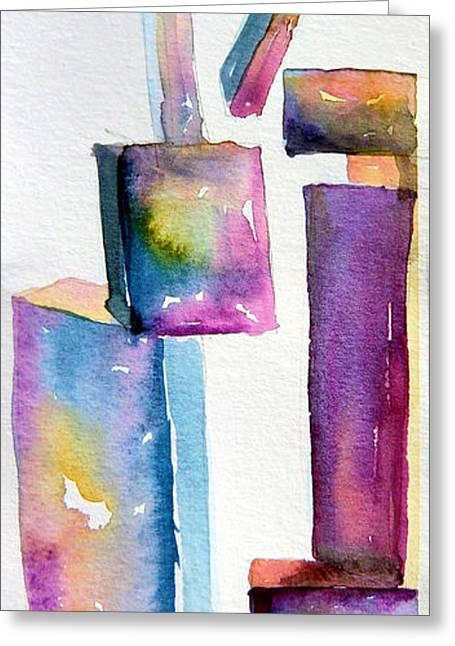 Abstract Forms Greeting Cards - Watercolor Sculpture Greeting Card by Mindy Newman