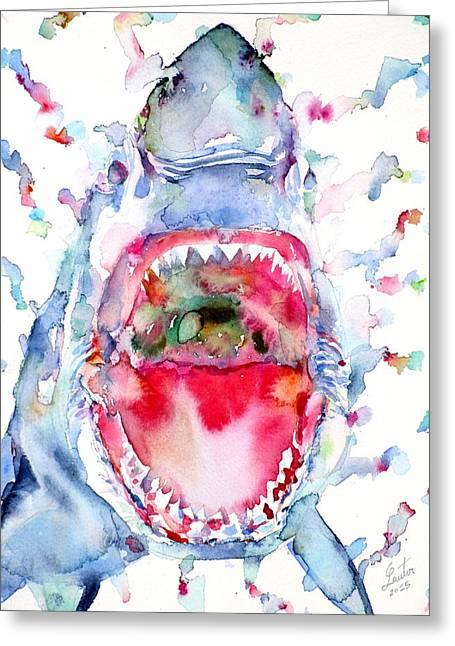 Watercolor Shark Greeting Card