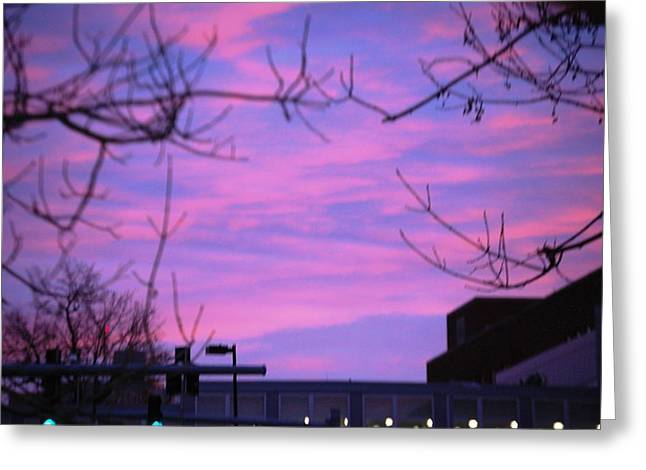Watercolor Sky Greeting Card by Sumoflam Photography