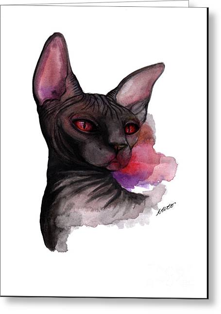 Watercolor Sphinx Greeting Card