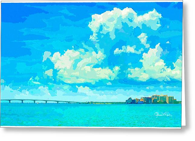 Watercolor Spring On Sarasota Bay Greeting Card