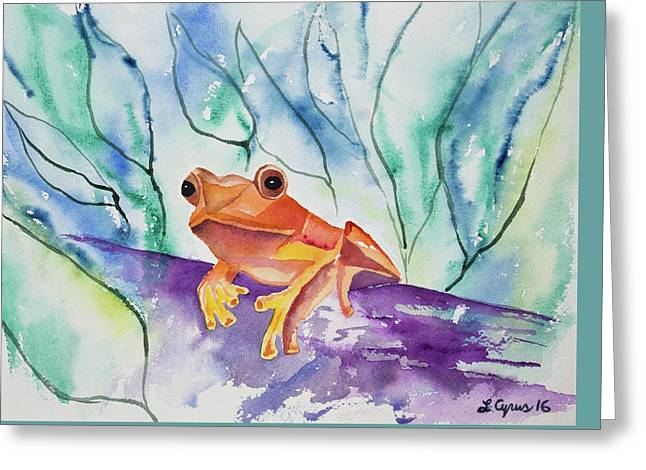 Watercolor - Tropical Frog Greeting Card by Cascade Colors