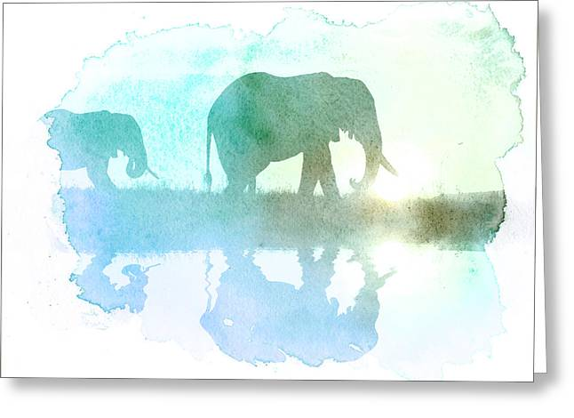 Watercolor Wildlife Greeting Card