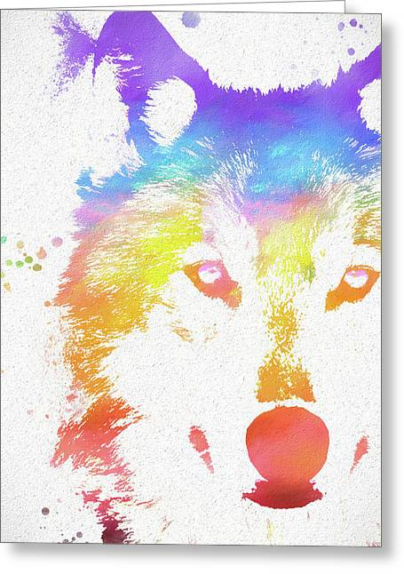 Watercolor Wolf Greeting Card
