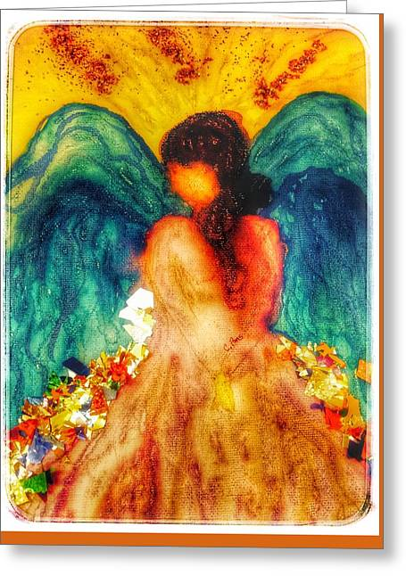 Watercolour Angel Greeting Card by Christine Paris