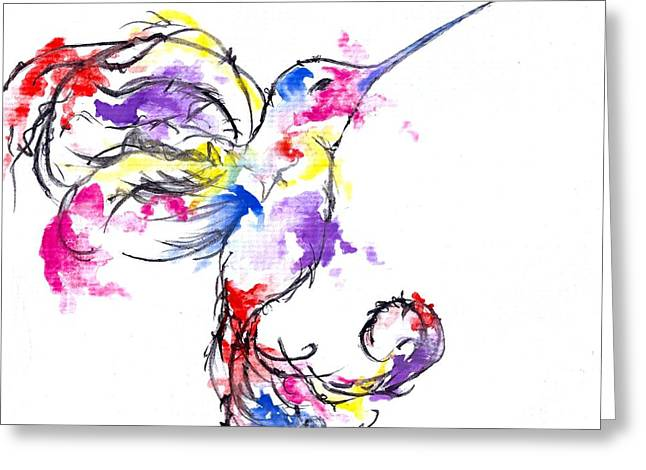 Watercolour Hummingbird Greeting Card
