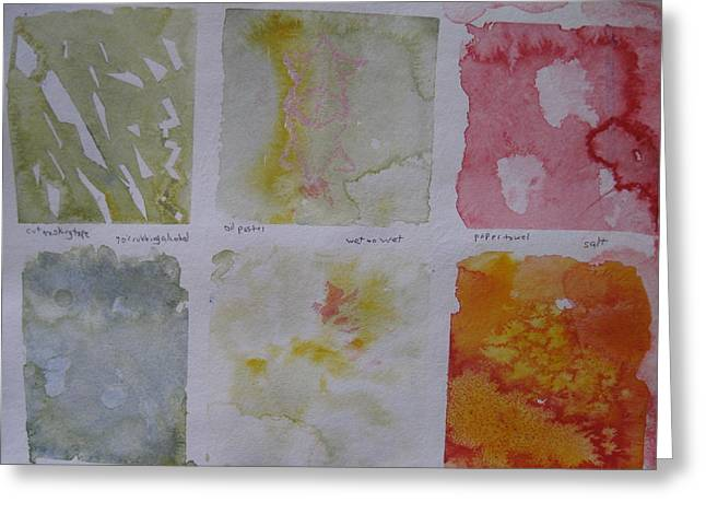 Watercolour II Two Greeting Card