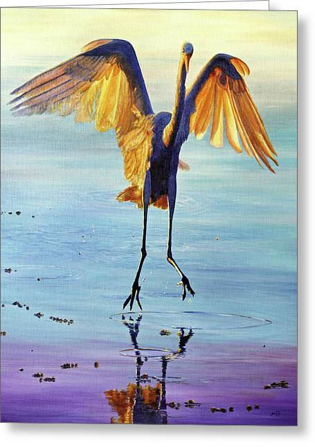 Greeting Card featuring the painting Waterdance by AnnaJo Vahle