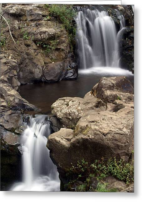 Waterfall 54 Greeting Card by Marty Koch