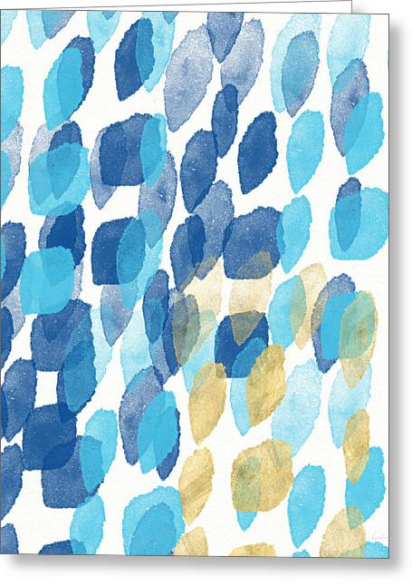 Waterfall- Abstract Art By Linda Woods Greeting Card by Linda Woods