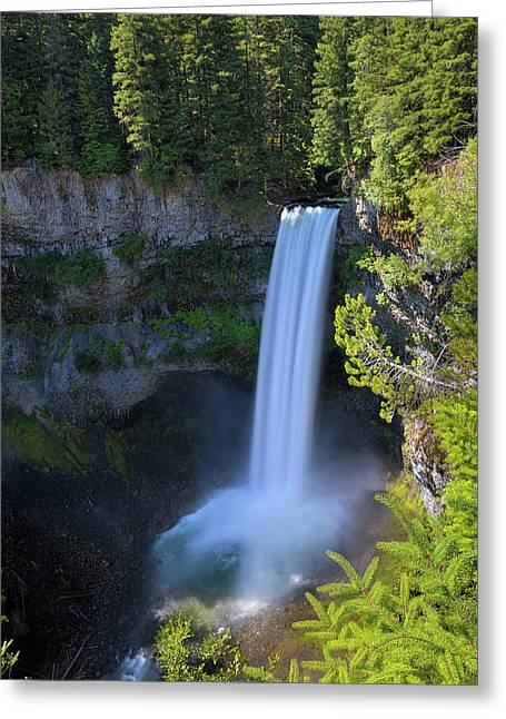 Waterfall At Brandywine Falls Provincial Park Greeting Card by David Gn