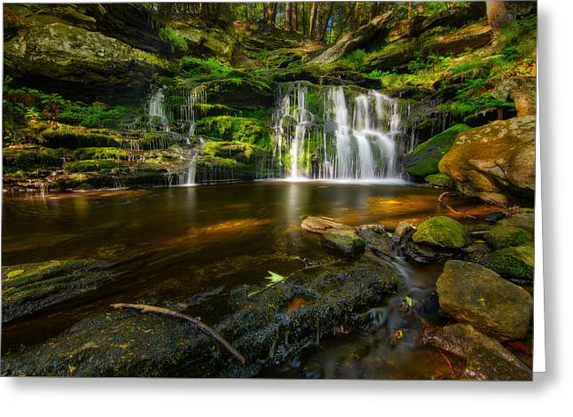 Waterfall At Day Pond State Park Greeting Card