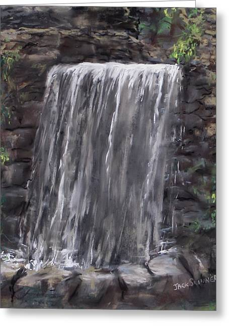Waterfall At Longfellow's Gristmill Greeting Card by Jack Skinner
