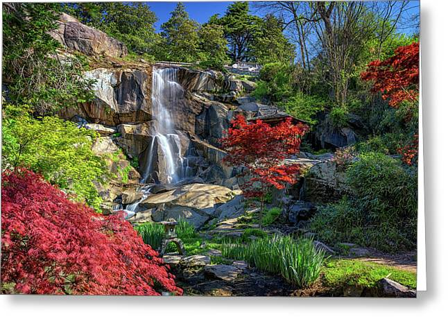 Waterfall At Maymont Greeting Card by Rick Berk