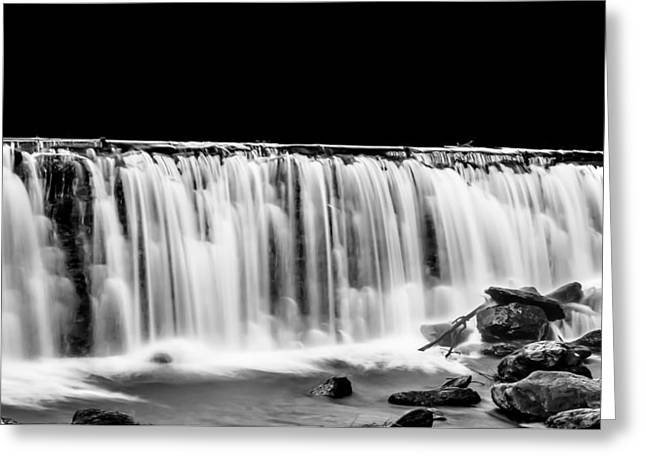 Waterfall At Night Greeting Card