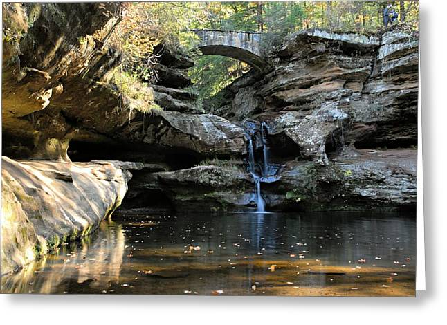Waterfall At Old Man Cave Greeting Card