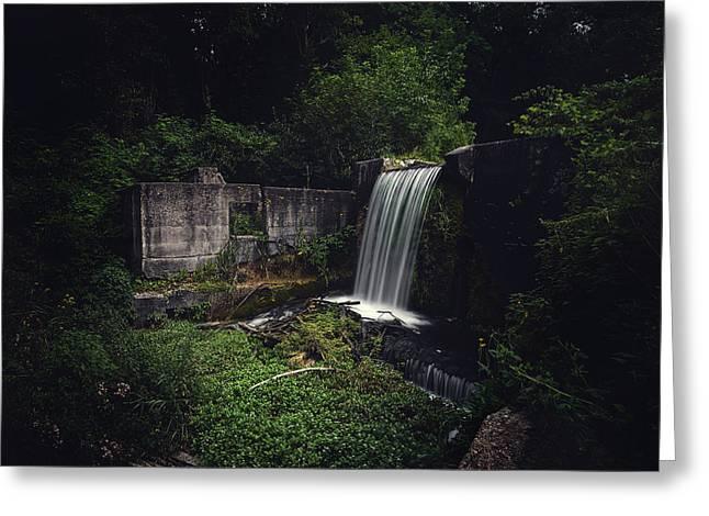 Waterfall At Paradise Springs Greeting Card
