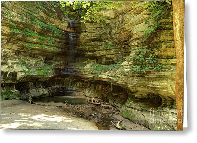 Waterfall At St. Louis Canyon 5 Hdr Greeting Card