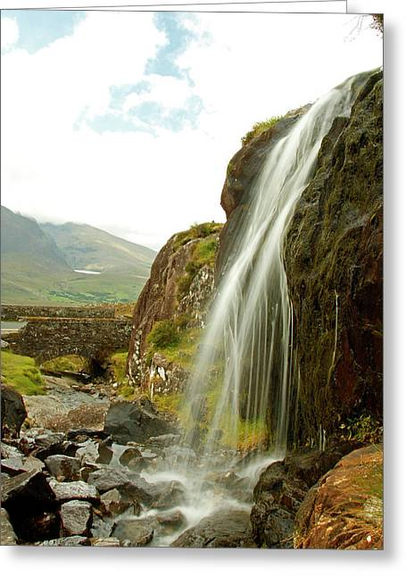 Waterfall At The Conor Pass Greeting Card