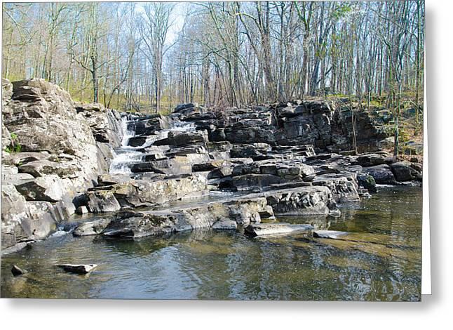 Waterfall At Wickecheoke Creek Greeting Card by Bill Cannon