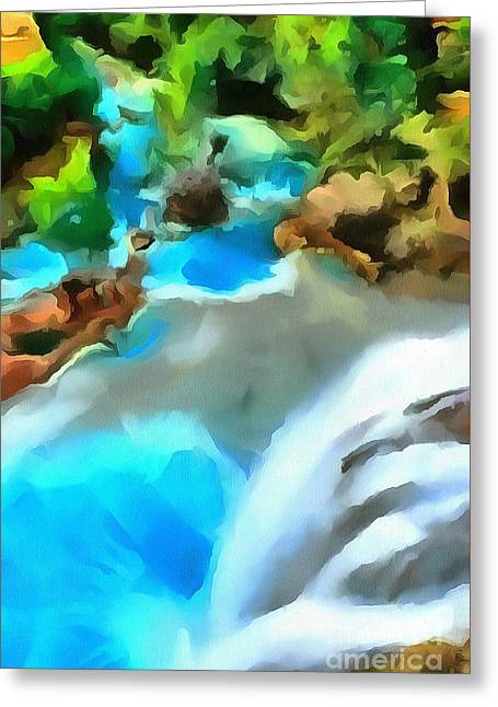 Waterfall Cascading Greeting Card