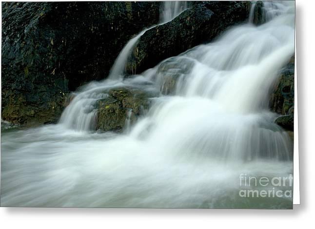Waterfall Cascading Into Li Jiang River Greeting Card by Sami Sarkis