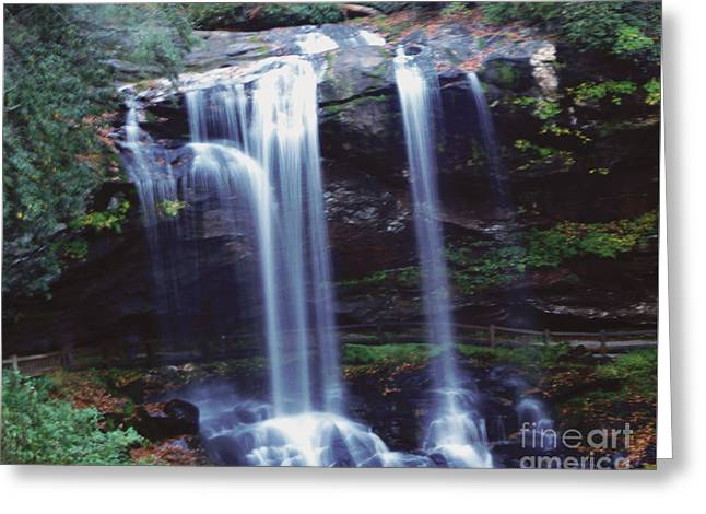 Greeting Card featuring the photograph Waterfall  by Debra Crank