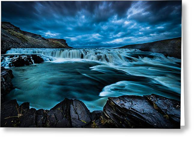 Waterfall Drama Greeting Card