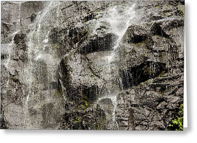 Waterfall, Fatu Hiva Island Greeting Card