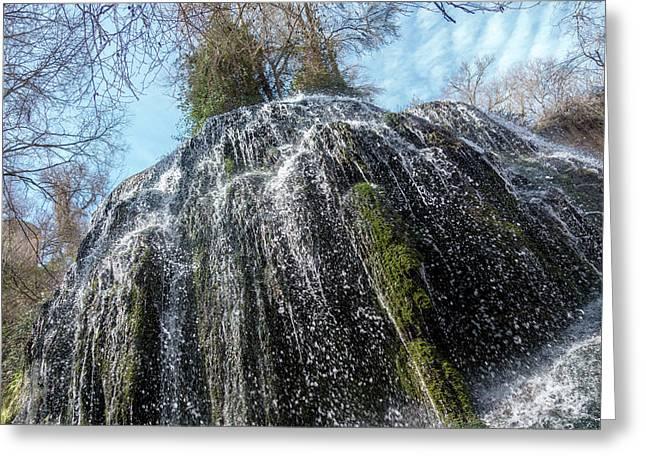 Waterfall From Below Greeting Card